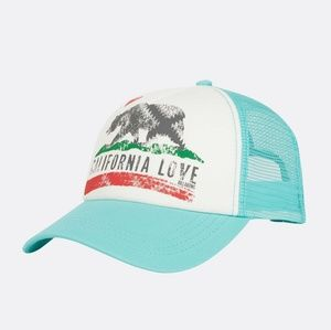 Billabong Pitstop Teal California Snapback Hat
